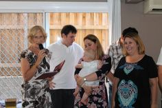 A Naming Ceremony at home with family and close friends