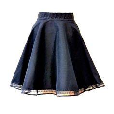 Black circle Lolita skirt, Black gothic skirt, Skater skirt, Short... ($41) ❤ liked on Polyvore featuring skirts, circle skirt, steampunk skirt, lace skirt, high-low skirt and short skirts