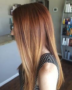 Red hair balayage #theredheadedstylist