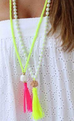 Neon Tassle Necklace