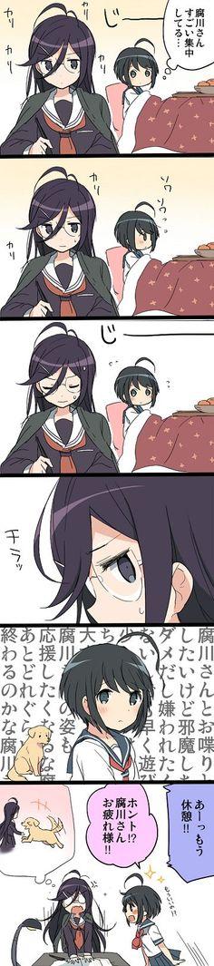 touko and komaru - danganronpa ultra dispair girls