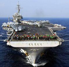 USS Kitty Hawk CVA CV 63 aircraft carrier US Navy