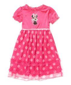 Look at this #zulilyfind! Pink Minnie Mouse Nightgown - Toddler & Girls by Minnie Mouse #zulilyfinds