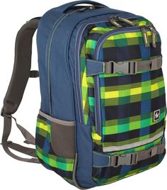 All Out Selby Rucksack Summer Check Green
