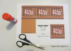 angry birds tnt printables   Box Printable (found at the bottom of this post)