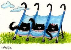 Art by AL Bihrle or C Cancel on Pinterest | Siamese Cats, Mustang ...