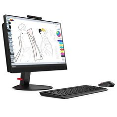 Lenovo ThinkCentre All-in-One Computer - Intel Core Gen) - Sdram - SSD - inch 1920 x 1080 Display - Windows 10 Pro, Black Pc Computer, Desktop Computers, Acer Desktop, All In One Pc, Thing 1, Electronic Deals, Microsoft Windows, Hdd, Operating System