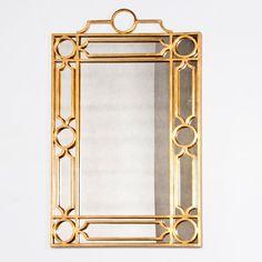 Treillage Gold Leaf Mirror // powder room mirror option 2