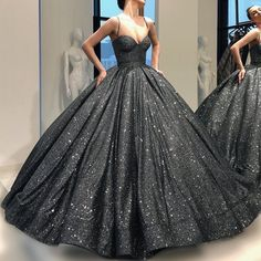 Charming Sequins Spaghetti Straps Ball Gowns Prom Dresses, Pageant Gowns, Sweet 16 Dresses, 350 sold by daisydress. Ball Gowns Prom, Ball Gown Dresses, Pageant Dresses, Homecoming Dresses, Black Quinceanera Dresses, Vestidos Color Blanco, Looks Party, Evening Dresses, Formal Dresses