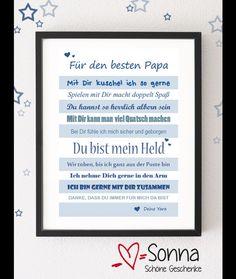 Hier biete ich Dir eine PDF an, die Du selbst ausdrucken kannst und die dann Dein Kind an den Papa verschenken kann!  *Ein ganz individuelles Geschenk, über das sich sicher jeder Papa...