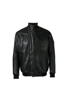 {Julius / 01 clothing / 07 outerwear / 01 jacket / 02 leather} Asymmetric Zip Bomber Jacket