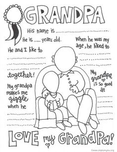 Grandparents Day Coloring Pages . 30 Awesome Grandparents Day Coloring Pages . the Cutest Grandparents Day Coloring Pages Aj Grandpa Gifts, Gifts For Dad, Homemade Fathers Day Gifts, Homemade Gifts, Grandparents Day Activities, Gift Ideas For Grandparents, Happy Grandparents Day, Happy Birthday Grandpa, Birthday Uncle