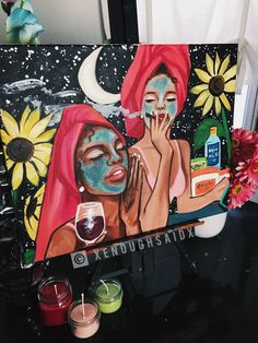 Artist info, she's s Pop Art Disney, Art Sketches, Art Drawings, Vexx Art, Art Et Design, Arte Sketchbook, Mini Canvas Art, Dope Art, Art Inspo