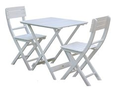 cool Mosaic Bistro Set - Table & 2 Folding Chairs - Cast Iron - High ...