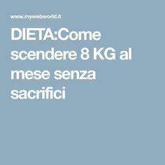 DIETA:Come scendere 8 KG al mese senza sacrifici