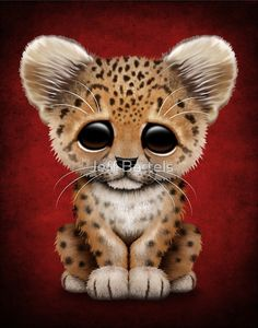 This cute design features a small leopard cub with large ears and deep black eyes. Description from redbubble.com. I searched for this on bing.com/images