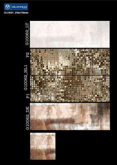 G_10062 - Millennium Tiles 250x750mm (10x30) Digital #Ceramic Glossy Wall #Tiles  - G_10062_LT  - G_10062_HL1 P2  - G_10062_HL1 P1  - G_10062_DK  - G_10062_DK