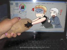 XD Germany wants his potato- OF COURSE I DO!!! Ireland: Why can't I have the potato?!