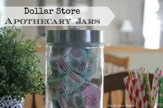 Dollar Store Apothecary Jars from www.joyinourhome.com