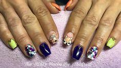 Fox nails #uñas #uñasacrilicas #uñasdecoradas #nails #acrylicnails #handpaintednailart #nailitdaily #notpolish #vetrogel #coffinnails #shortnails #prettynails #autumnnails #notpolish #fox #nailsmagazine #nailprodigy #nailpro #nailpromote #greennails #purplenails #orangenails #pretty #dainty #crystals