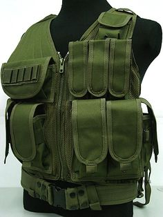 Military Tactical Combat Vest Army Gear Black MOLLE Carrier Airsoft Paintball War Game Tactical Hunting Vest