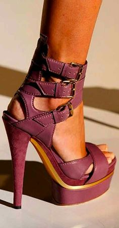 High heels | platform shoes | ankle straps | pretty in pink |