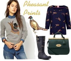 Pheasant prints are perfect for the festive season. Find outfit details on my blog. #BritishPrep #Pheasant #Preppy