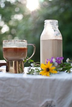 homemade coffee creamer (cinnamon vanilla)