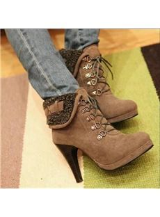 Stylish Womens Ankle Motorcycle Boots High Heels Lace Up 4 Color Shoes Pumps Platform Ankle Boots, Platform High Heels, High Heel Boots, Boot Heels, Boots With Heels, Women's Shoes, Cute Shoes, Me Too Shoes, Shoes Style