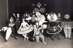 Dancers from Oskar Schlemmer's Triadic Ballet at the Bauhaus (1926)