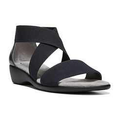 d4519aa1d0c0 Ladies LifeStride Solid Fabric Cushioned Strappy Sandals. Available   Boscov s  Online. LifeStride Tellie strappy