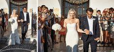 Santorini Wedding - arriving at the church Santorini Wedding, Destination Wedding Photographer, Elegant Wedding, Wedding Photography, Island, Wedding Dresses, Bride Dresses, Bridal Gowns