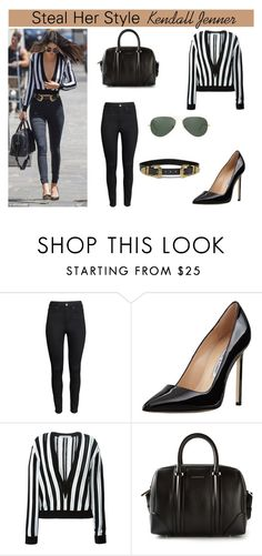 """""""Steal Her Style : Kendall Jenner"""" by style-74 ❤ liked on Polyvore featuring H&M, Manolo Blahnik, Givenchy, B-Low the Belt, Ray-Ban, StreetStyle, celebstyle and kendalljenner"""
