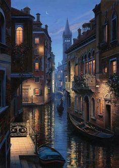 buon ferragosto cari amici veneziani e romantica serata a tutti