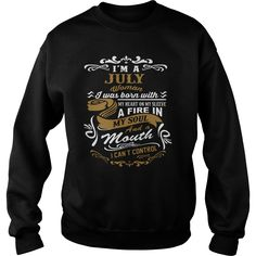 I'm A July Woman I Can't Control sweatshirt
