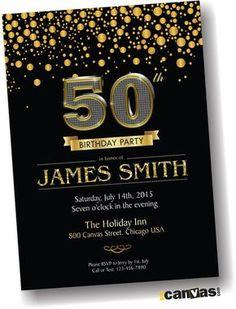 30th 40th 50th 60th 70th 80th birthday Invitation for by 800Canvas
