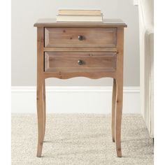 August Grove Clare 2 Drawer Nightstand & Reviews | Wayfair