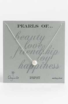 Simple & Elegant - Pearl Necklace, bridesmaid gift?
