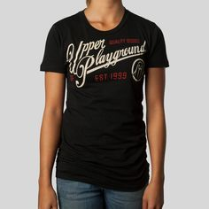 upper-playground - Classico Women's T-Shirt in Black #upperplayground @upperplayground #classic #up #sf #classico #tshirt