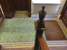 Photo by Tracey Cartledge Manchester Uk, Corridor, Mosaic Glass, Mosaics, Rust, Flooring, Mosaic, Hardwood Floor, Floor