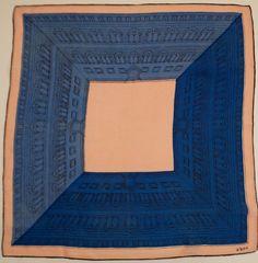 Early Vera Neumann Silk Scarf Rare