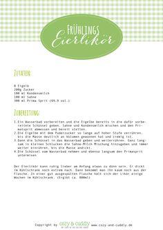 """Eierlikoer Rezept  """"Post aus meiner Küche"""""""