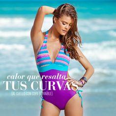 ¡Un traje de baño para vivir un #verano con picante y mucho color! #VeranoLeonisa2013 #PicanteColorCurvas