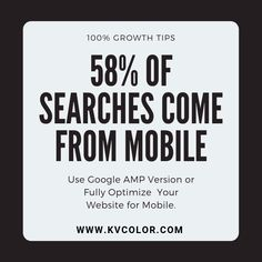 58% of searches come from mobile