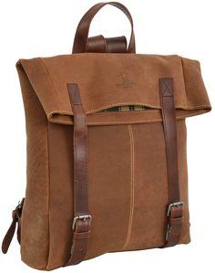 Ob Arbeit oder Uni, ob Freizeit oder Reise – dieser Rucksack ist für alles bereit. Aus robustem und strapazierfähigem, braunem Büffelleder ist 'Kim' die ideale Begleiterin für alle Lebenslagen, auf den 100% Verlass ist - Lederrucksack - Cityrucksack - Gusti Leder - 2M37-20-7