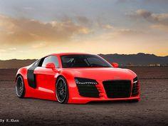 Audi r8 Red by kumar khan