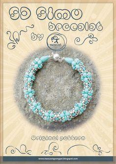 Bracelet tutorial / pattern S.D. Simo with by beadsbyvezsuzsi, $11.00