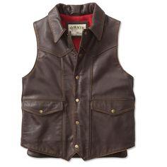 Mens Leather Vest - Jackson Hole Western Leather Vest -- Orvis on Orvis.com!