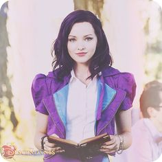 Mal's got her spell book ready for the premiere of #DisneyDescendants on 7/31 at 8p on @DisneyChannel. Who's excited?! ✨