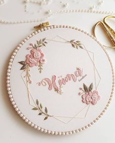 Hand Embroidery Patterns Flowers, Hand Embroidery Videos, Embroidery Stitches Tutorial, Embroidery Flowers Pattern, Simple Embroidery, Embroidery Hoop Art, Creations, Crochet, Crafts